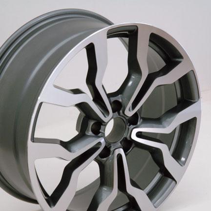 "18"" Fits A4 Q5 Audi R8 Replica Wheels Gun Metal With Machined Face Set of 4 | eBay"