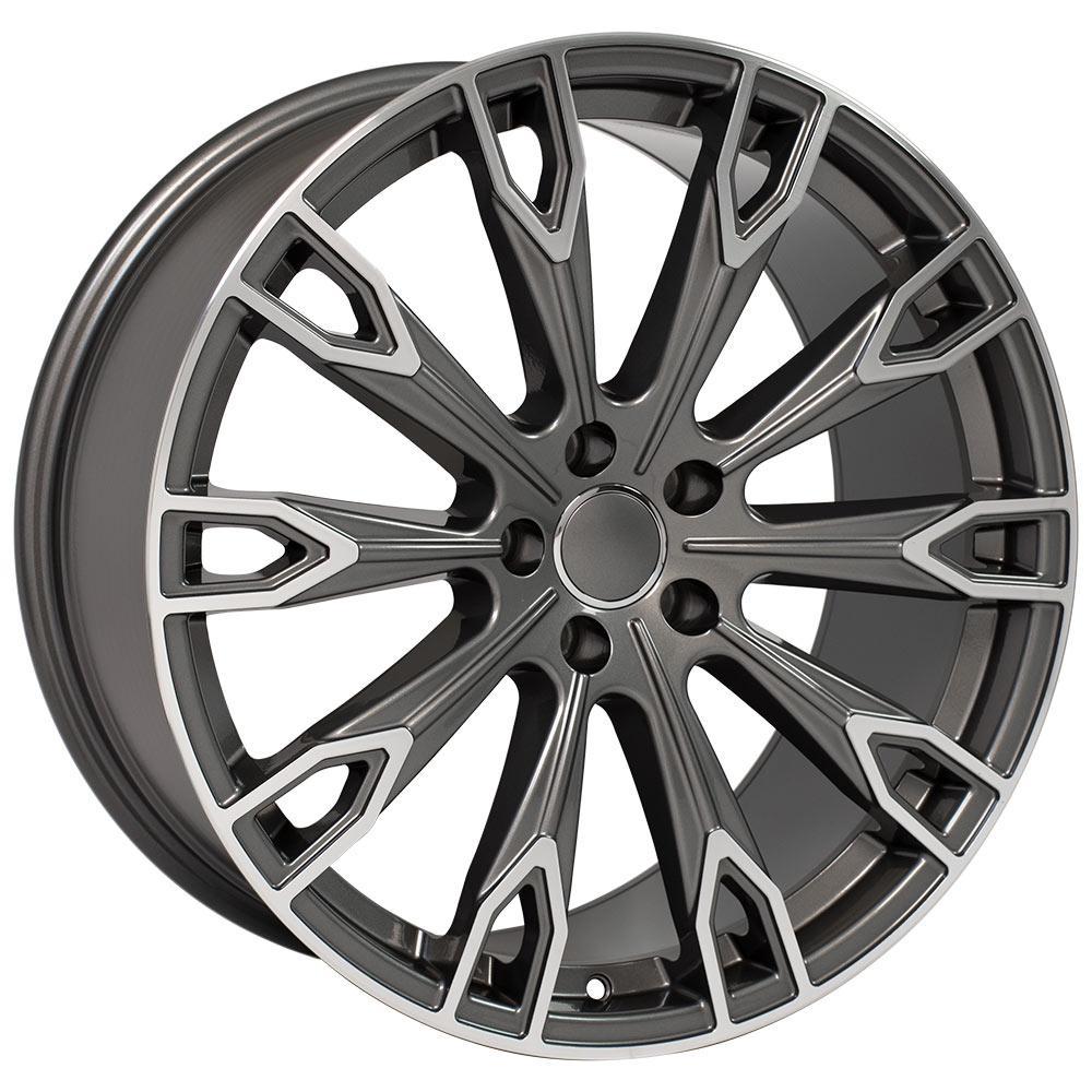 "20"" Wheel Fits Audi Q Series Q7 AU32 20x9 GunmetalMach'd"