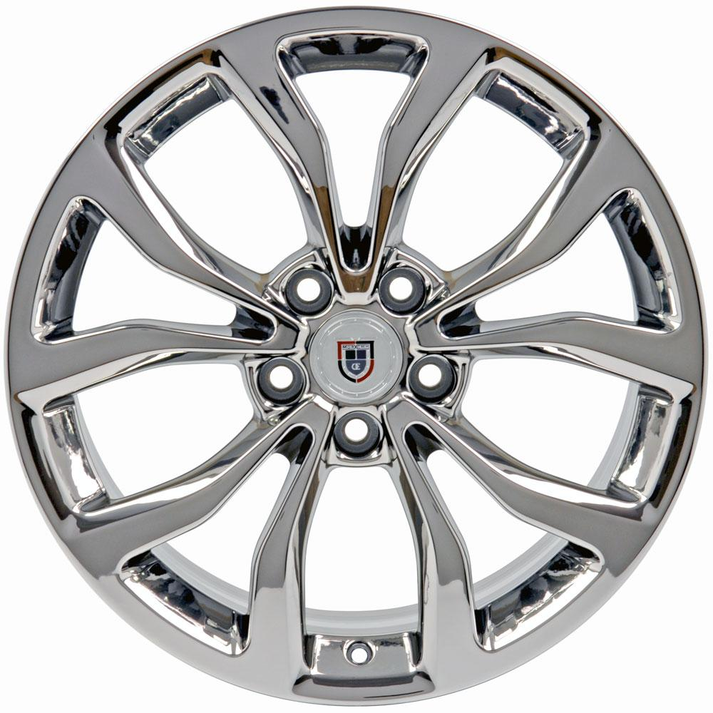 "18"" PVD Chrome ATS Style Wheel 18x8 Rim Fits Cadillac CTS"