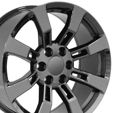"Sonata With Black Rims >> 20"" Black Chrome Escalade Wheels Rims Fit Cadillac GMC Yukon Tahoe Suburban   eBay"