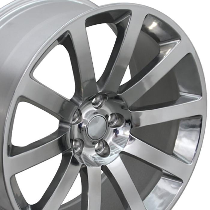"20"" Polished CL 300 SRT Wheels 20x9 Set Of 4 Rims Fits"
