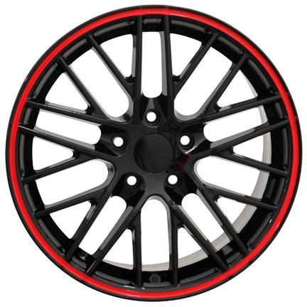 18x8 5 19x10 black redline corvette c6 zr1 style wheels rims fit Turbo Camry product set of four