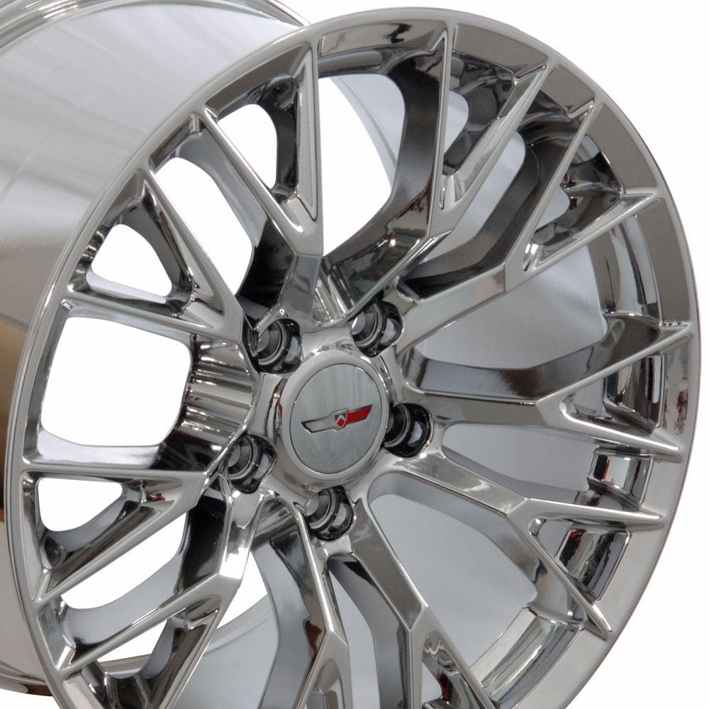 Chevrolet Corvette C7 Z06 Style Replica Wheels Pvd Chrome 17x9 5 Set