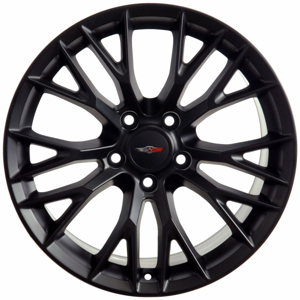 19x10 matte black c7 z06 corvette style wheel 19 rim fits. Black Bedroom Furniture Sets. Home Design Ideas