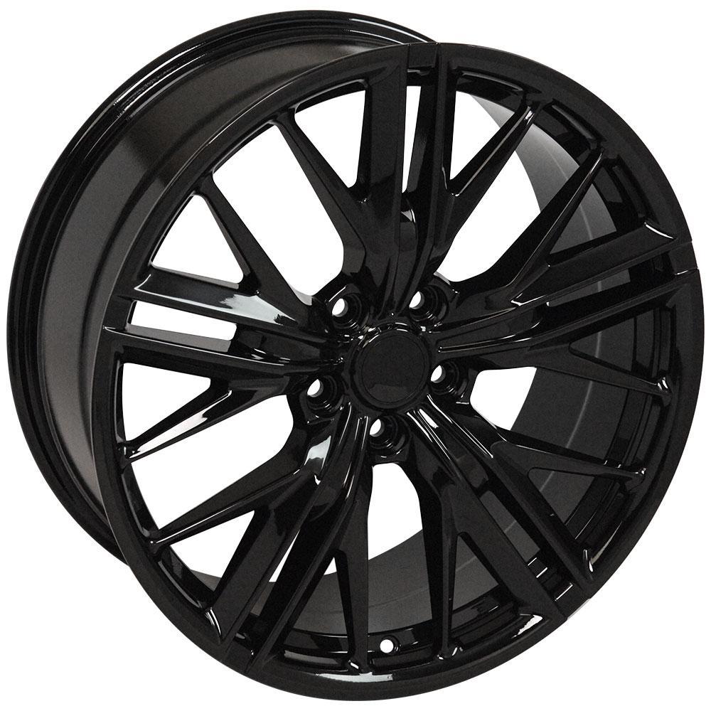 20x8 5 gloss black 5th gen camaro zl1 wheels set of 4 rims fit chevrolet. Black Bedroom Furniture Sets. Home Design Ideas