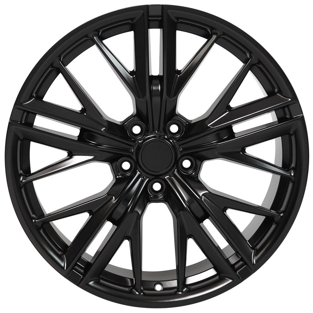 20x8 5 satin black 5th gen camaro zl1 wheels set of 4 rims fit Chevy Hubcap Identification upc e 9507168