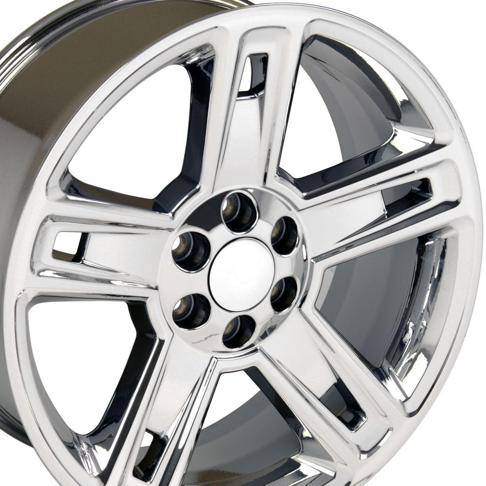 cv74 22 inch chrome rims fit chevy silverado. Black Bedroom Furniture Sets. Home Design Ideas