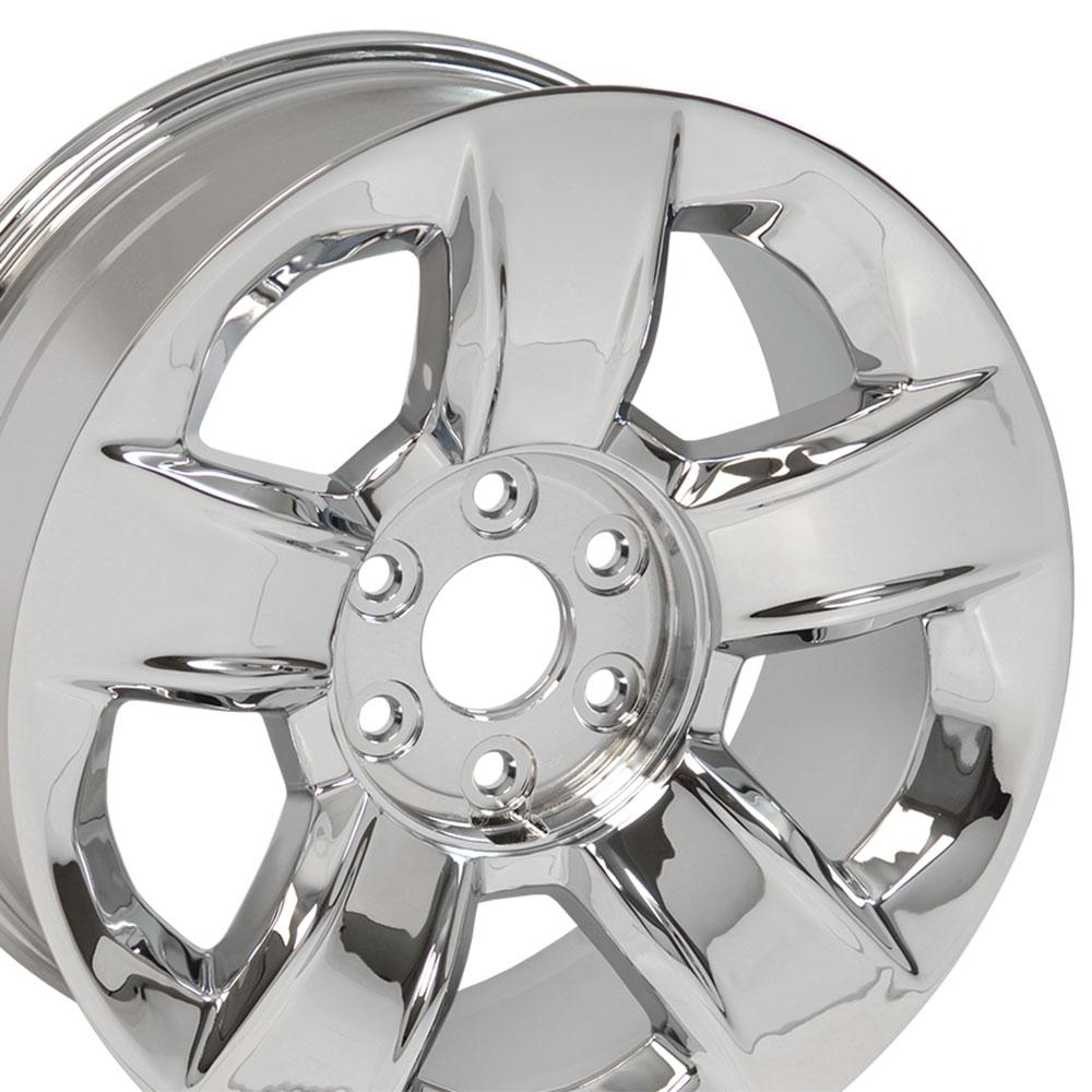 "20x9 Chrome Chevrolet Silverado 1500 Wheel OEM PN 20937762 20"" Rim Fits GMC CP | eBay"