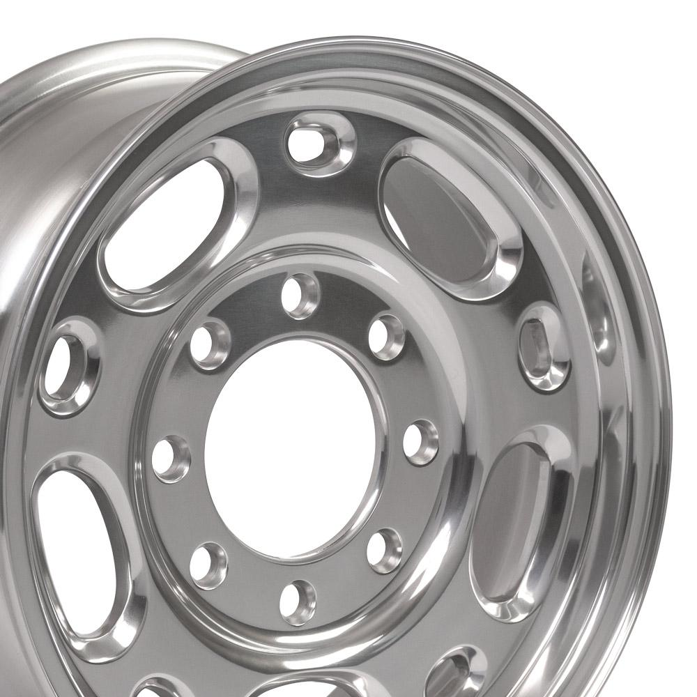 Image of 16 inch Rim Fits Chevy Suburban CV82 16x6.5 Polished Aluminum Chevy Truck Wheel