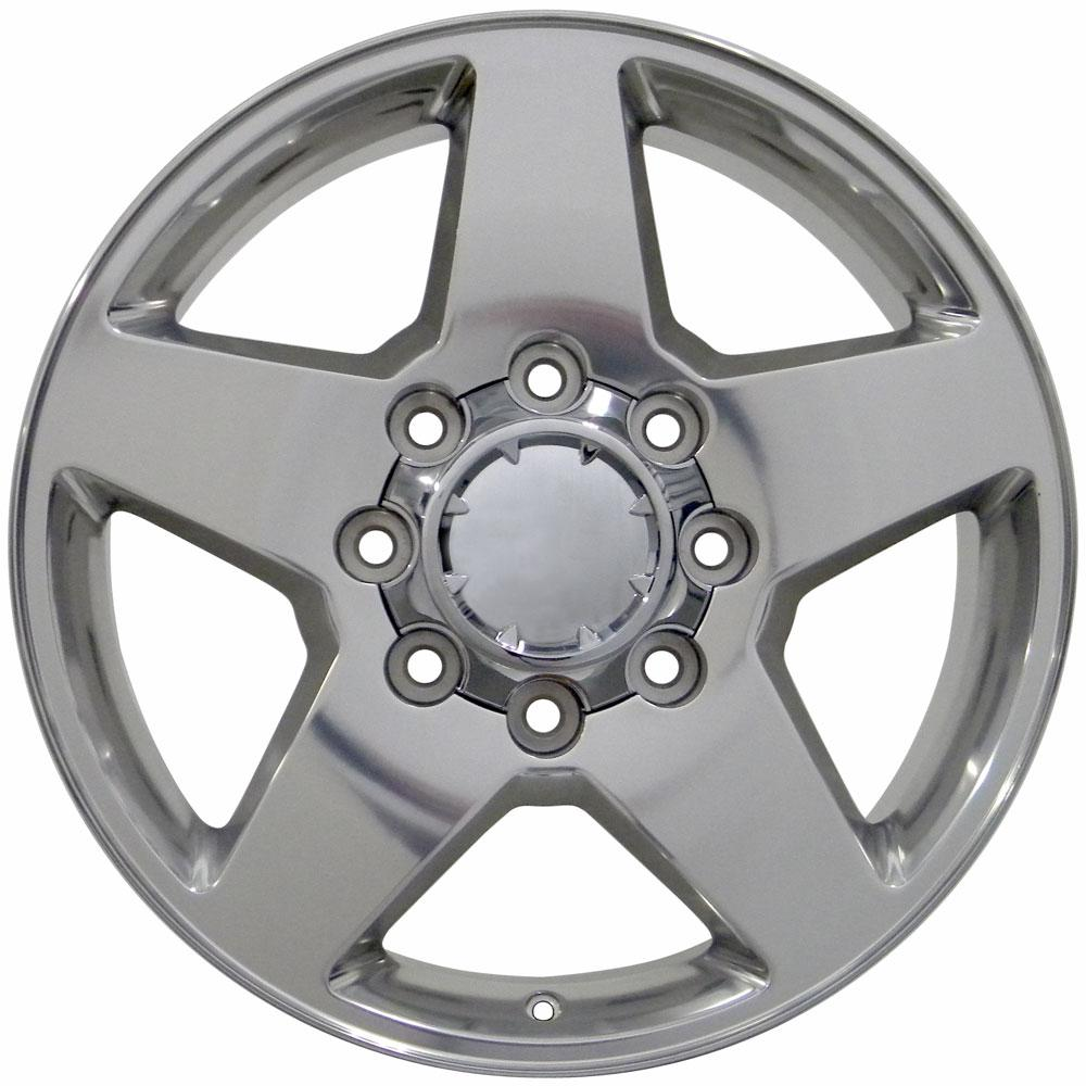 Replica wheels for GMC and Chevy trucks - 20x8.5 polished wheels for Chevy Silverado, GMC Sierra and compatible trucks & SUVs