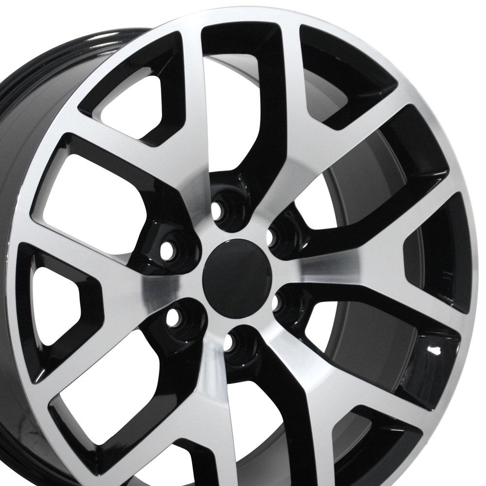 All Chevy black chevy rims : 22x9 Black Machined Face Sierra 1500 Style Wheels Set of 4 22 ...