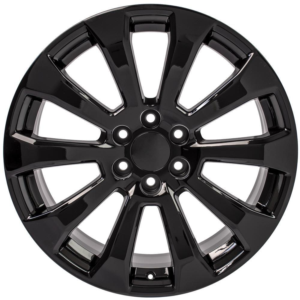 Replica wheels for GMC and Chevy trucks - Fits 22x9 Gloss Black Silverado High Country Wheels