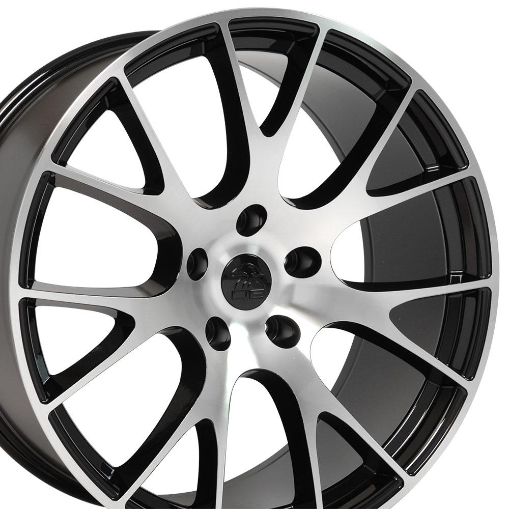 wheel fits charger challenger hellcat dg  black machd