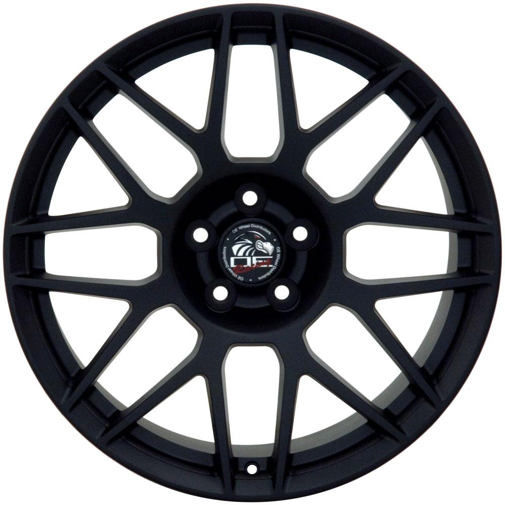 "19"" Mustang GT500 Style Wheel Matte Black 19x10 Rim Fits"