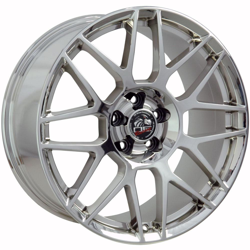 """19"""" Mustang GT500 Style Wheel PVD Chrome 19x10 Rim Fits"""