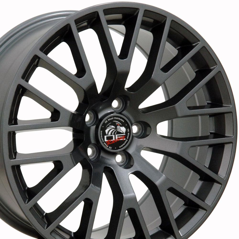 2015 Mustang Wheels >> Details About 18x9 Gunmetal 2015 Mustang Gt Style Wheels Set Of 4 18 Rims Fit Ford Oew