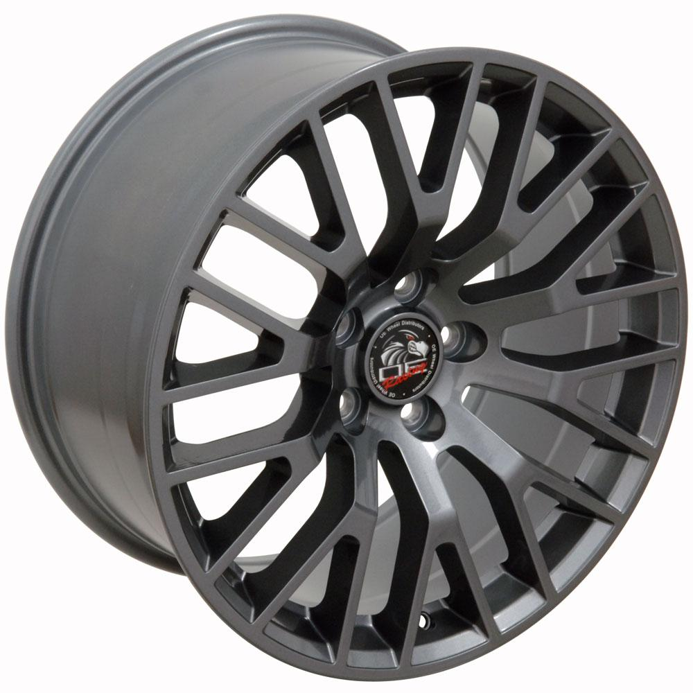 18x9 2015 mustang gt performance style wheel gunmetal fits ford cp ebay. Black Bedroom Furniture Sets. Home Design Ideas