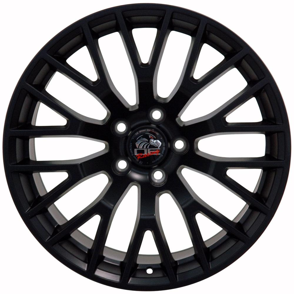 FR20 gunmetail machined face wheel for Mustang
