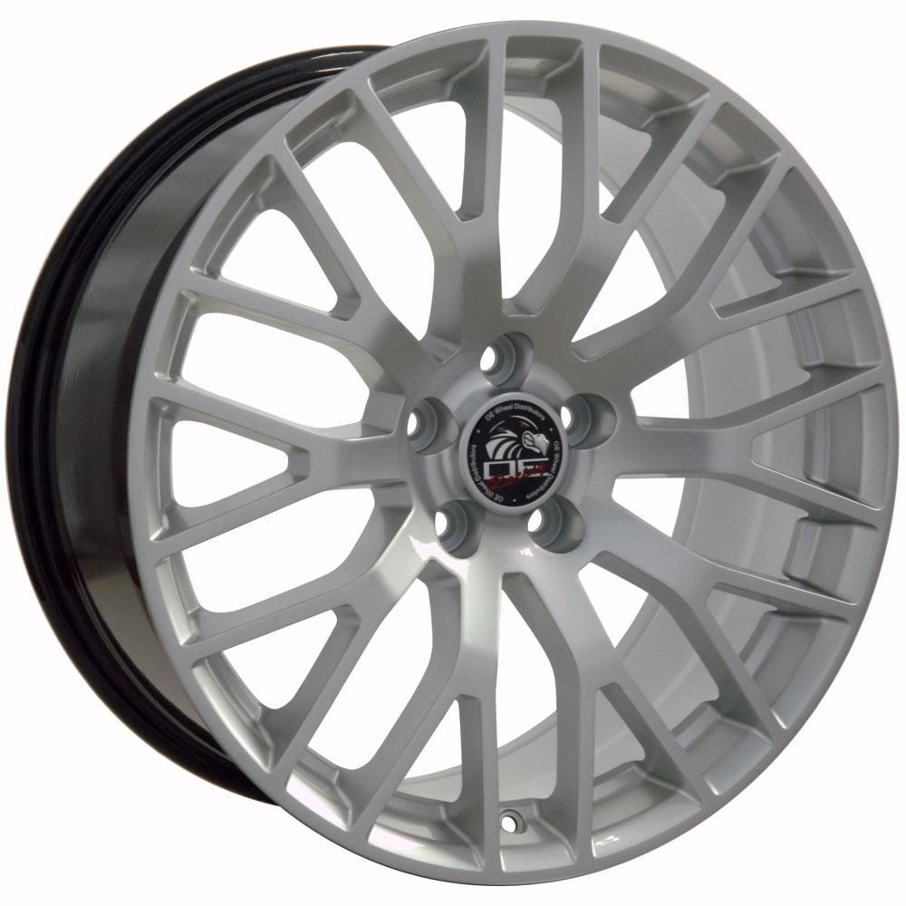 19x10 2015 mustang gt performance style wheel hyper silver rim fits ford cp ebay. Black Bedroom Furniture Sets. Home Design Ideas