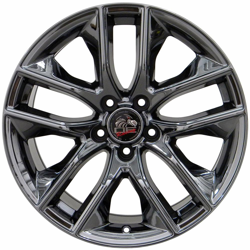 18x10 pvd black chrome 2015 mustang gt style wheel 18 fits ford ebay. Black Bedroom Furniture Sets. Home Design Ideas