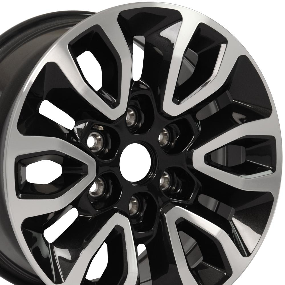 Fr72 Black Machined Face Raptor Oem Wheel Rim For Ford F 150