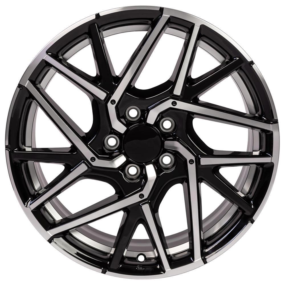18x8 Rim Fits Honda Civic Acura HD06 Gloss Black Mach'd