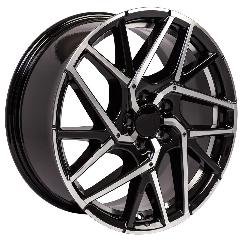 "18"" Rim Fits Honda Civic HD06 18x8 Gloss Black Machined"