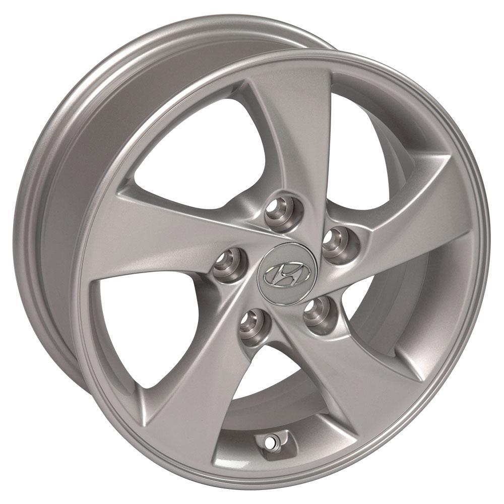 "Hyundai Elantra Tire Size: 15"" Silver Hyundai Elantra OEM Wheel 70858 15x6 Rim CP"