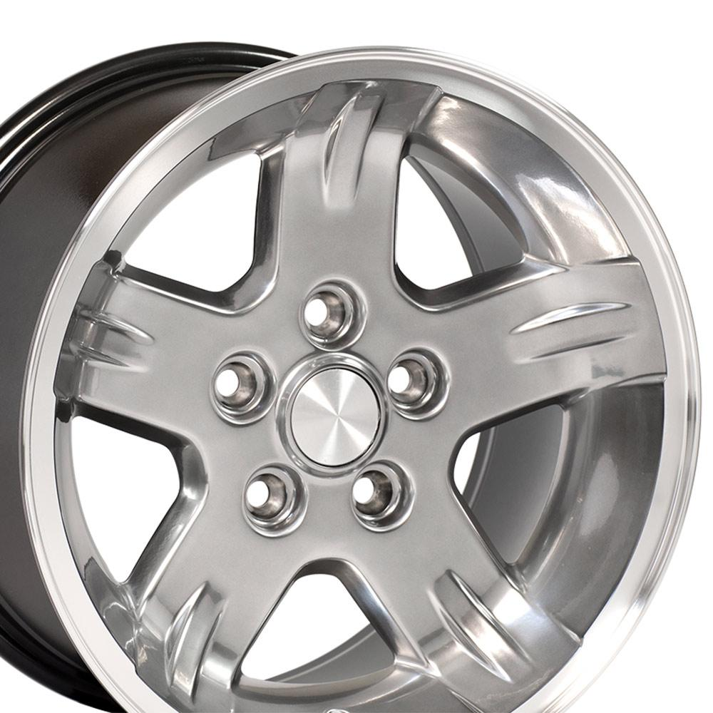 Image of 15 inch Rim Fits Jeep Wrangler Style JP03 15x8 Hyper Black Machined Wheel