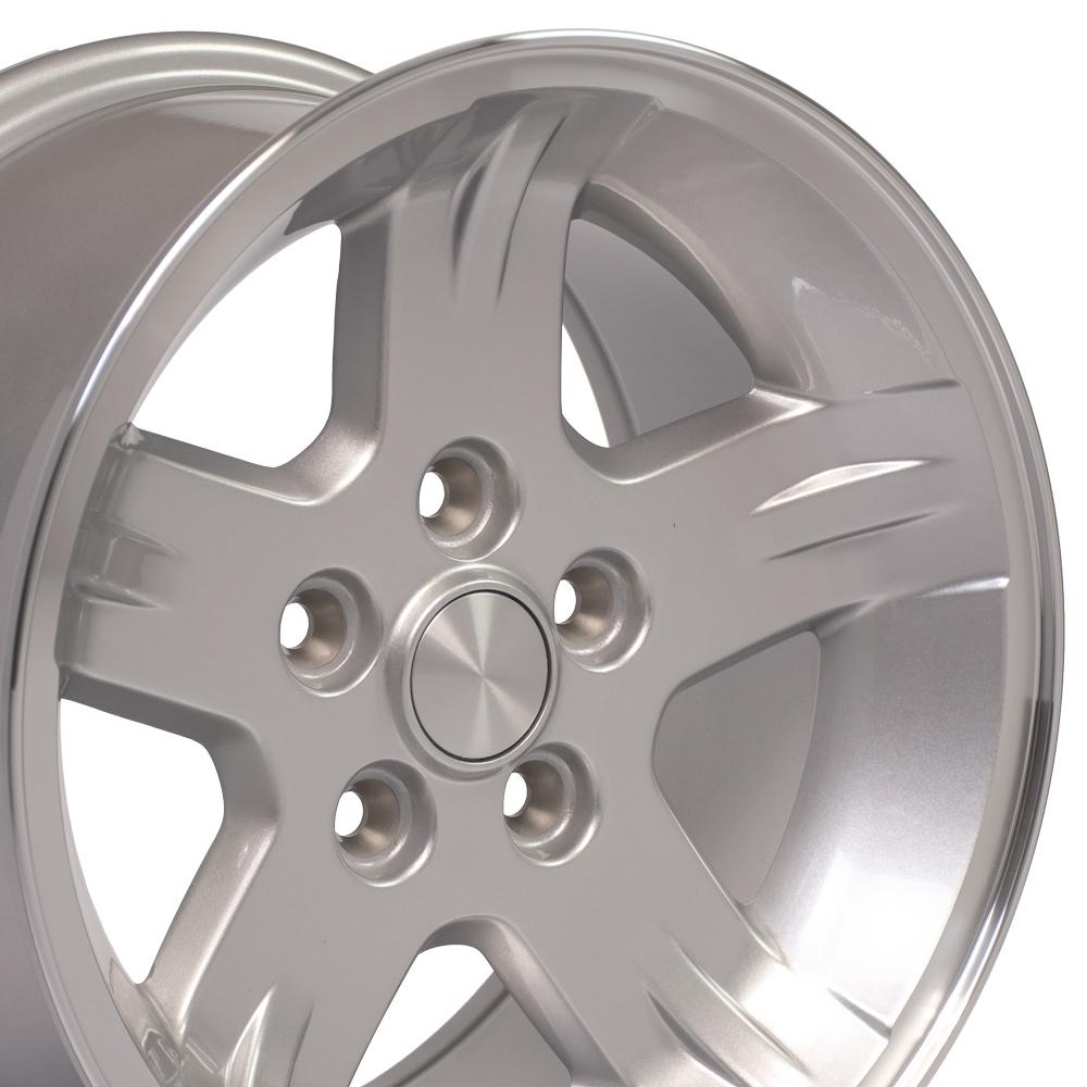 15 inch Rim Fits Jeep Wrangler Style JP03 15x8 Silver Machined Wheel