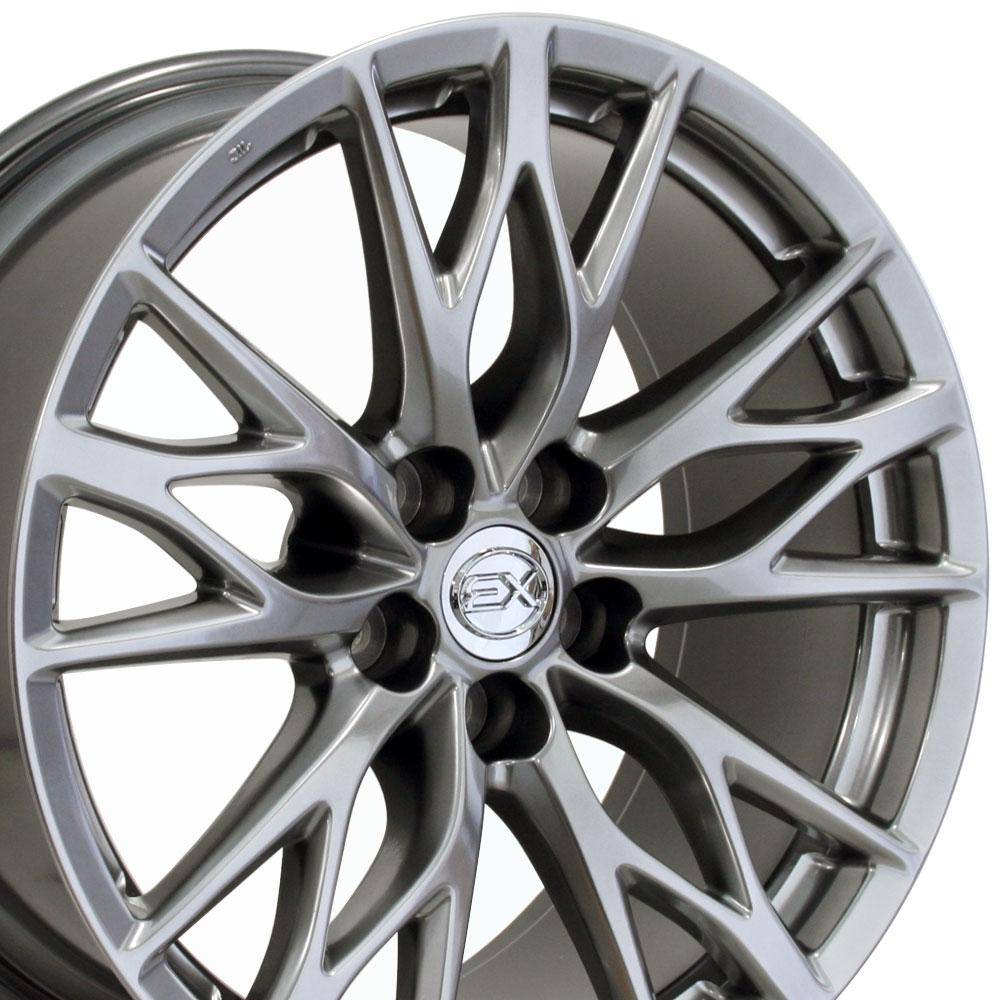 19 fits lexus is f style wheels hyper silver 19x8 set of 4 rims w1x ebay. Black Bedroom Furniture Sets. Home Design Ideas