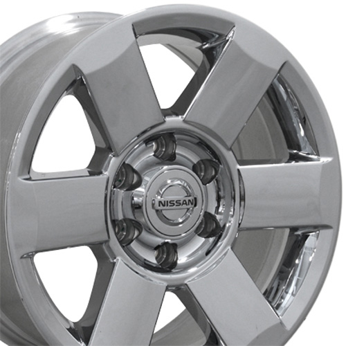 "2005 Nissan Frontier Wheels: 18"" Chrome Clad Titan Wheels Set Of 4 Rims OEM Nissan"