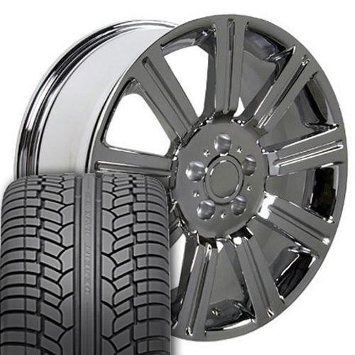 """22"""" Chrome Wheels Rims UHP Tires Fit Range Land Rover HSE"""
