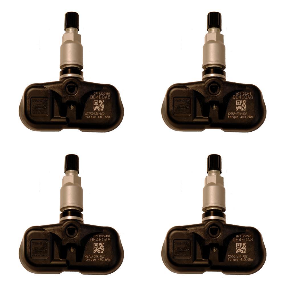 Set Of 4 TPMS 42753-STK-A02 Tire Pressure Monitor Sensor