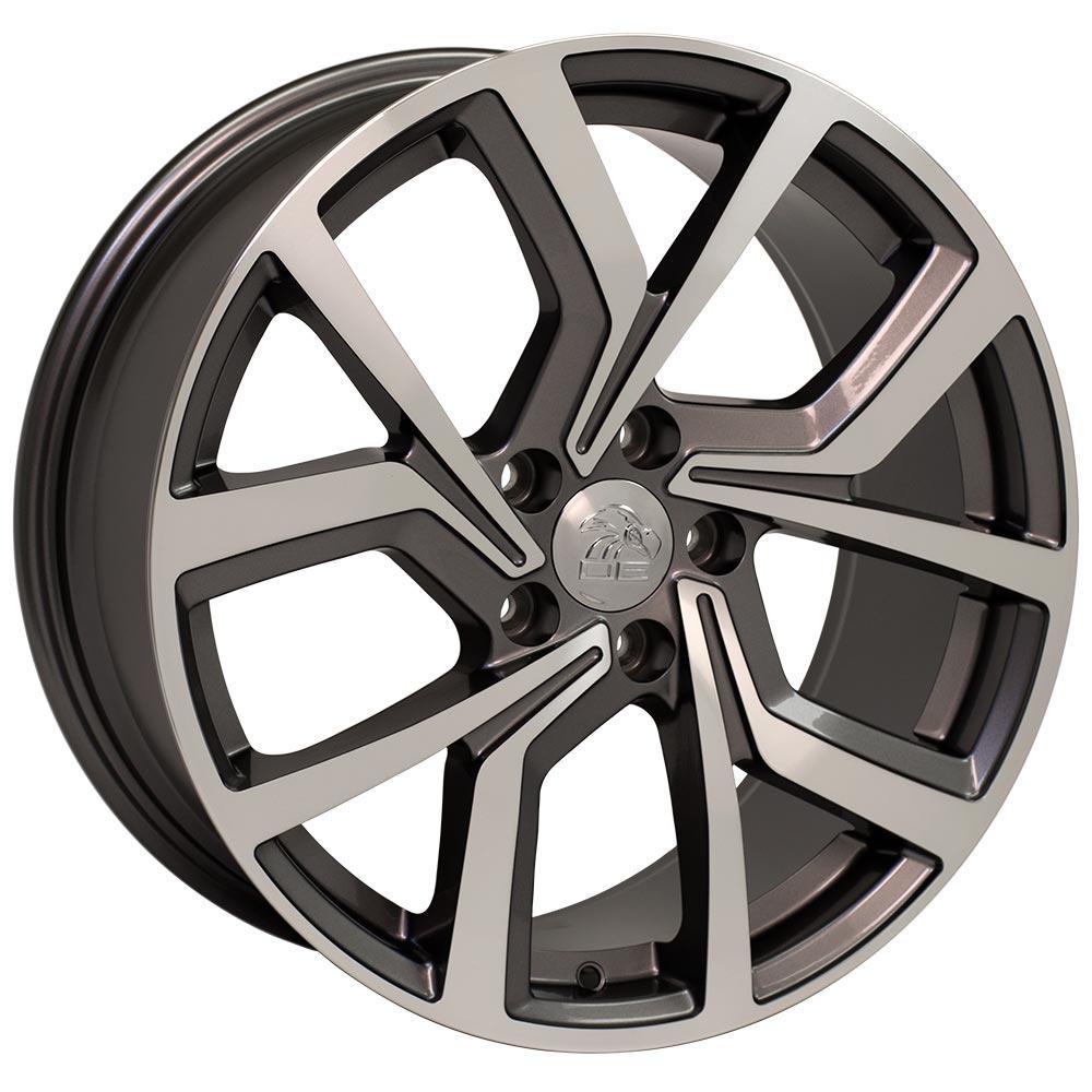 wheel fits volkswagen gti vw  gunmetal machined