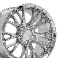 17x9.5 set rims for Chevy Corvette