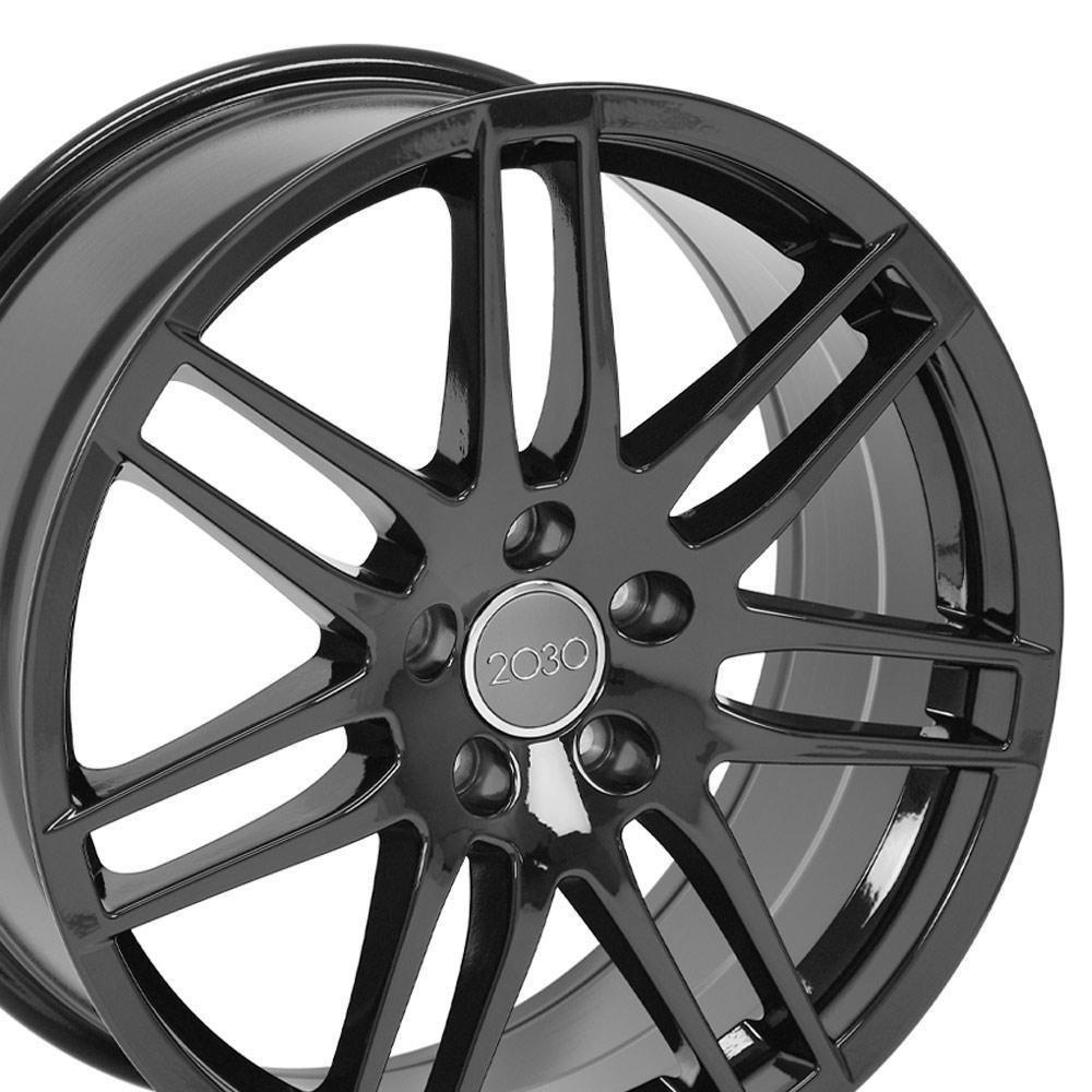 18 wheel fits audi a3 au05 18x8 gloss black 2018 VW Golf R upc 9451941