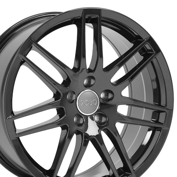 Audi Rs4 Style Replica Wheels Black 18x8 Set