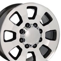 8 Lug Sierra style wheels Machined Black for Silverado