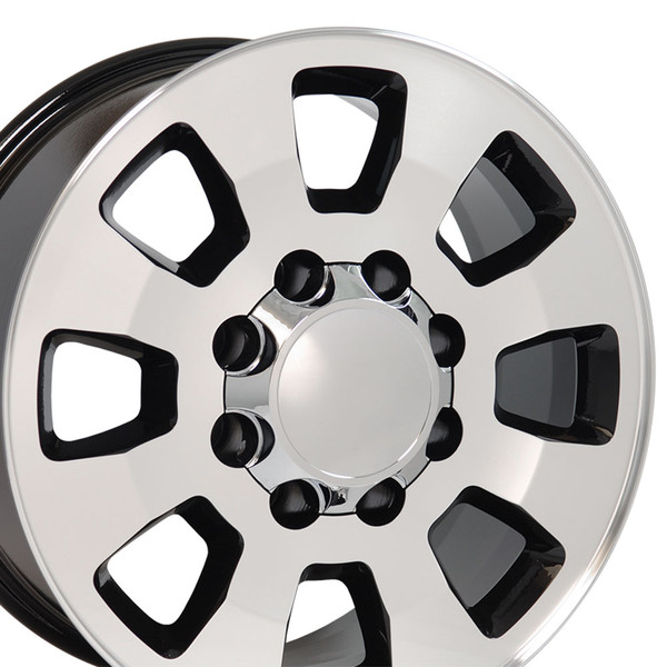 8 Lug Sierra style wheels Machined Black for Silverado