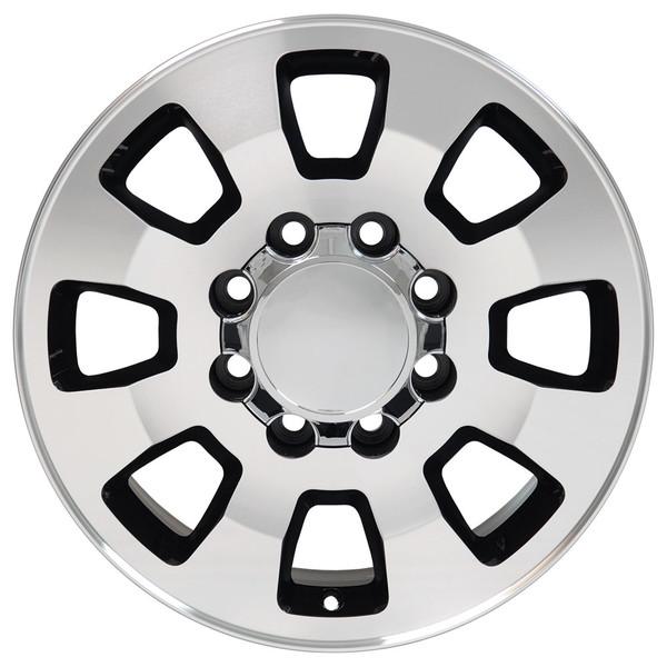 8 Lug Sierra style wheels Machined Black for Sierra