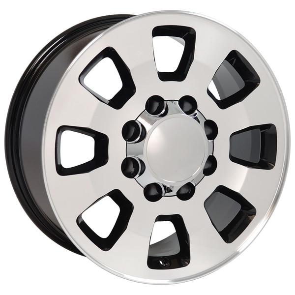 8 Lug Sierra style wheels Machined Black for Savana