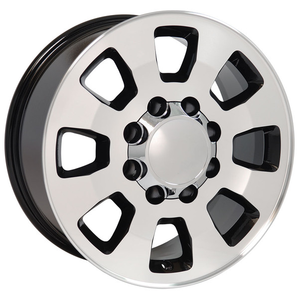 8 Lug Sierra style wheels Machined Black for Savana