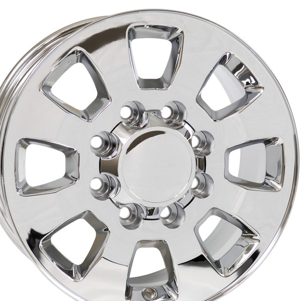 8 Lug Sierra style wheels Chrome for Savana