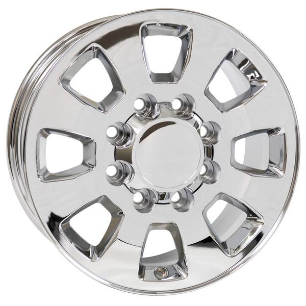8 Lug Sierra style wheels Chrome for Sierra