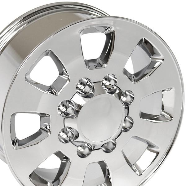 8 Lug Sierra style wheels Chrome for C2500
