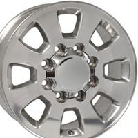 8 Lug Sierra style wheels Polished for Silverado