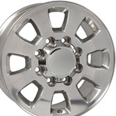 8 Lug Sierra style wheels Polished for Silverado