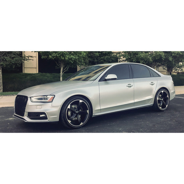 Satin Black Machined S4 Style Wheels On An Audi A4 Quattro They Also Fit Some