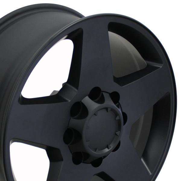 8 lug black silverado rim